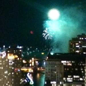 Navy Pier Fireworks from Millennium Condo, Chicago
